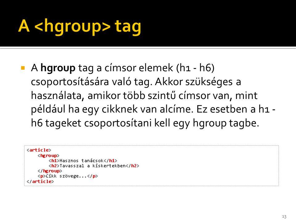 A <hgroup> tag