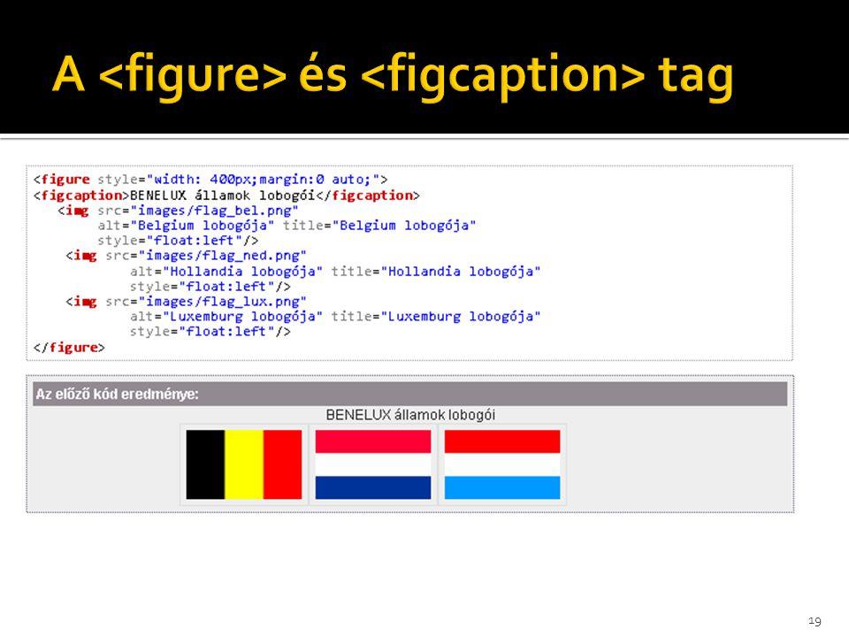 A <figure> és <figcaption> tag