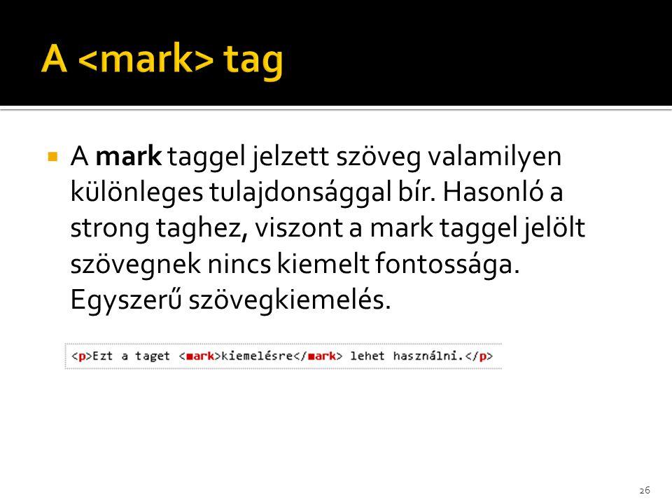 A <mark> tag