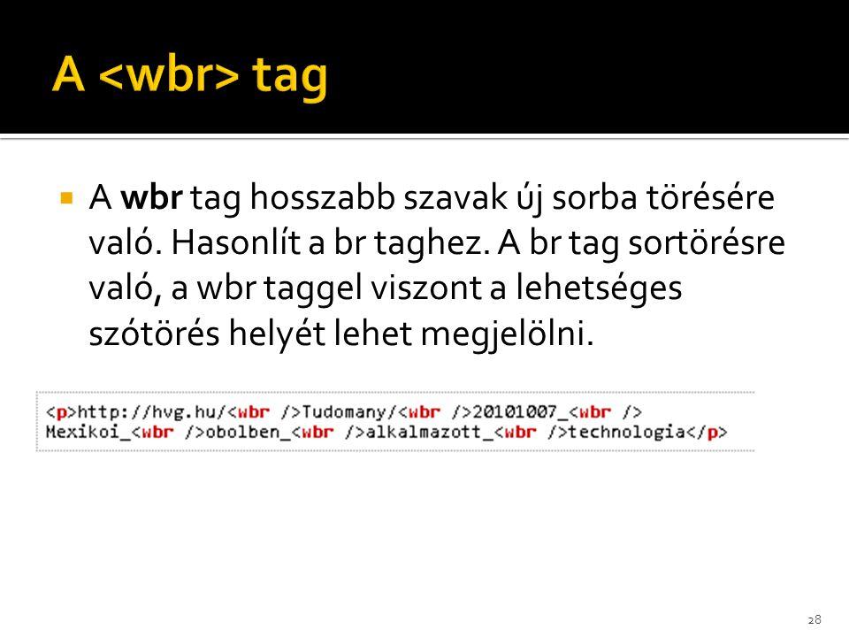 A <wbr> tag
