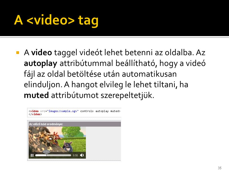 A <video> tag