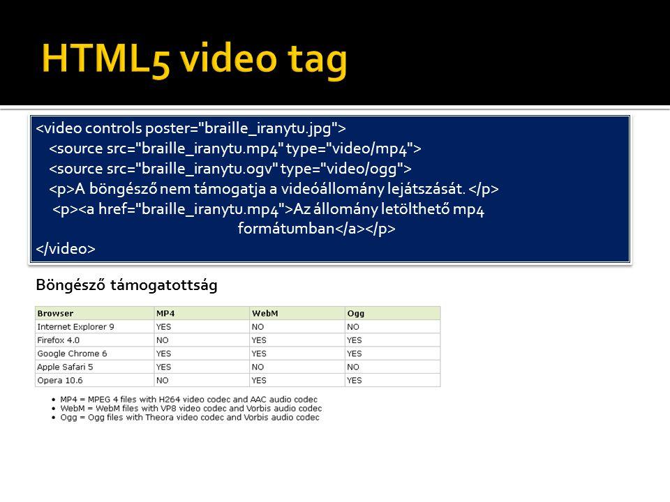 HTML5 video tag <video controls poster= braille_iranytu.jpg >