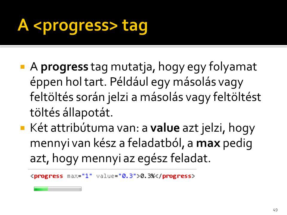 A <progress> tag