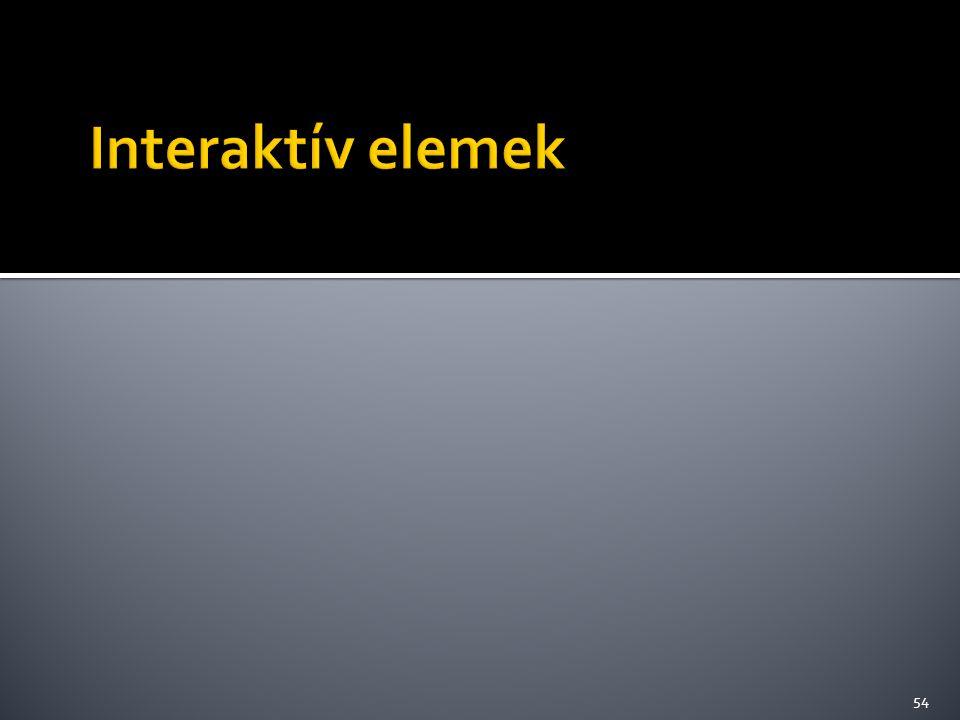 Interaktív elemek