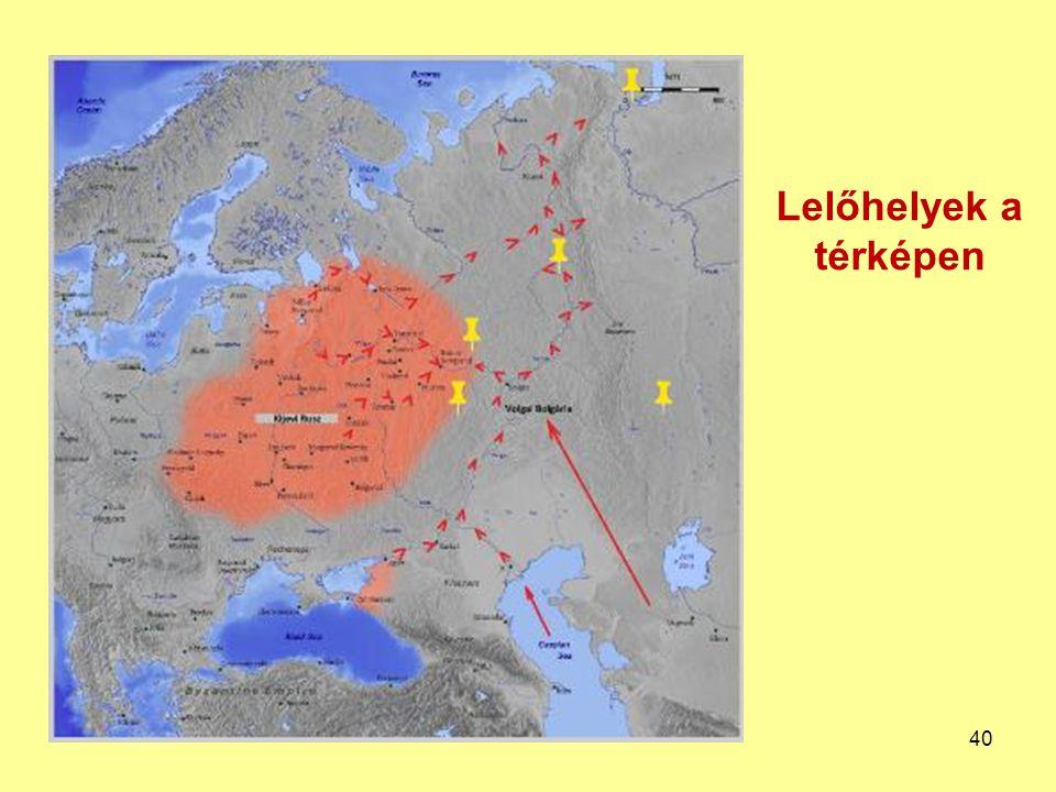 Lelőhelyek a térképen