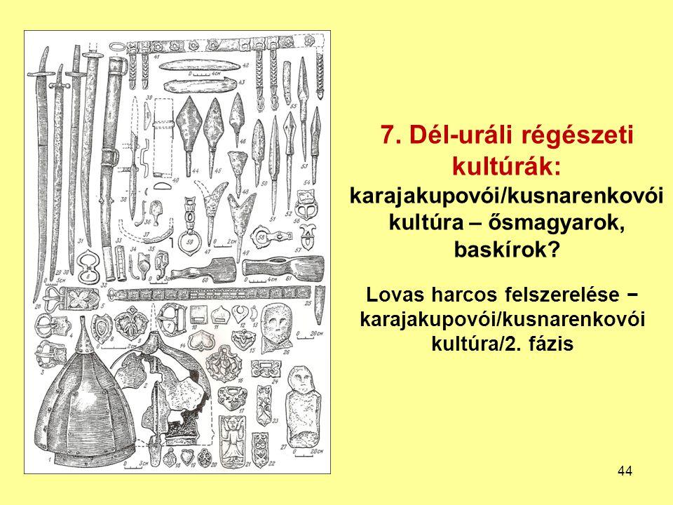 7. Dél-uráli régészeti kultúrák:
