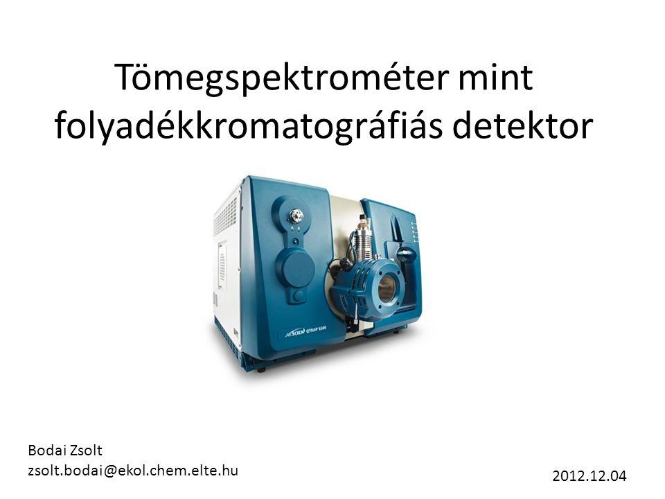 Tömegspektrométer mint folyadékkromatográfiás detektor
