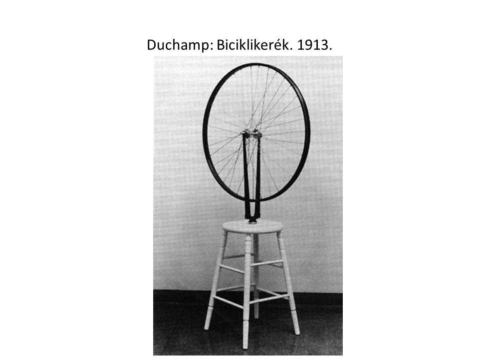 Duchamp: Biciklikerék. 1913.