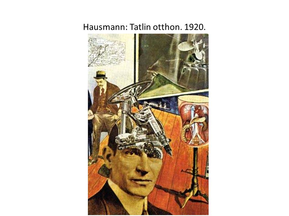 Hausmann: Tatlin otthon. 1920.