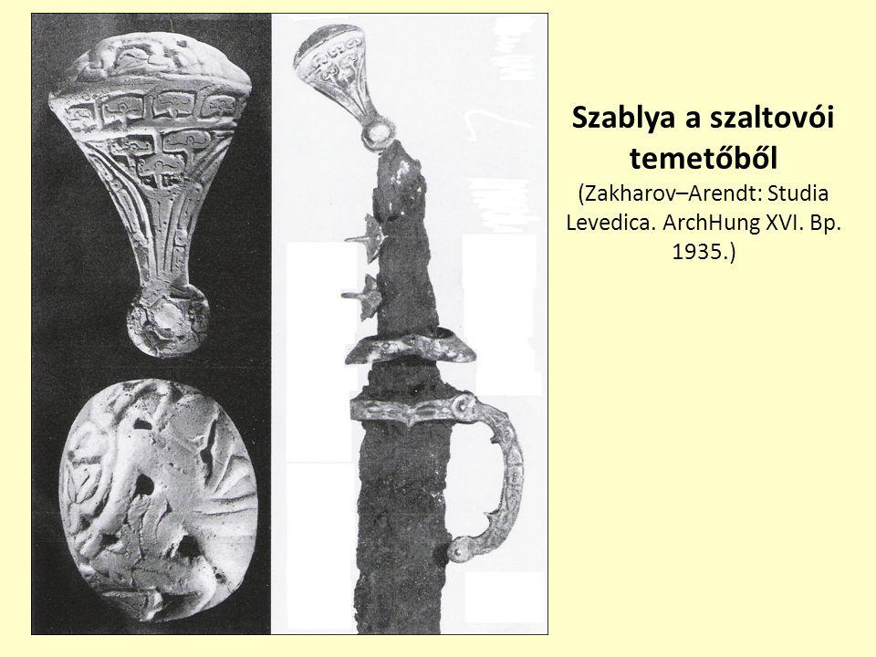 Szablya a szaltovói temetőből (Zakharov–Arendt: Studia Levedica