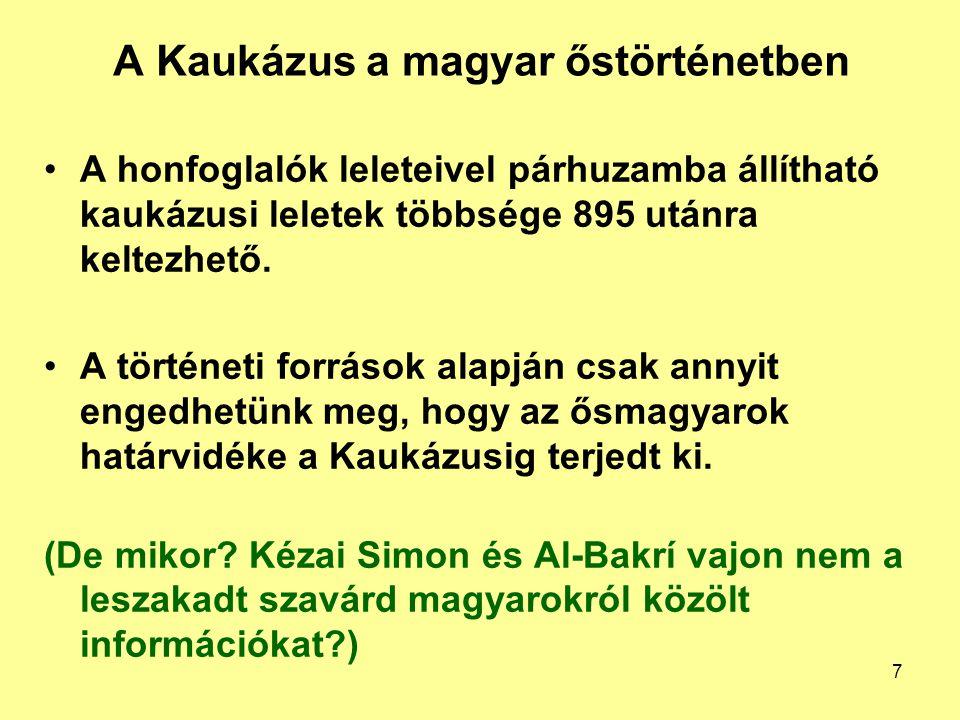 A Kaukázus a magyar őstörténetben