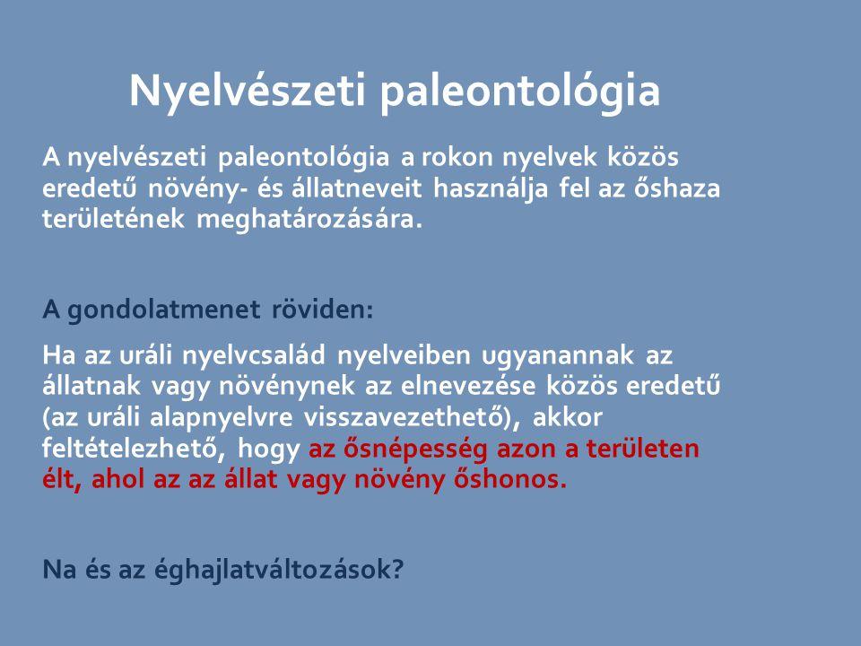 Nyelvészeti paleontológia