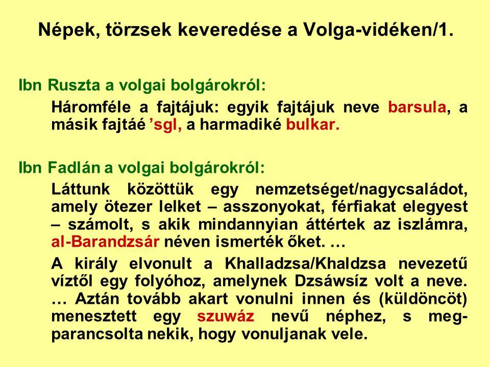 Népek, törzsek keveredése a Volga-vidéken/1.