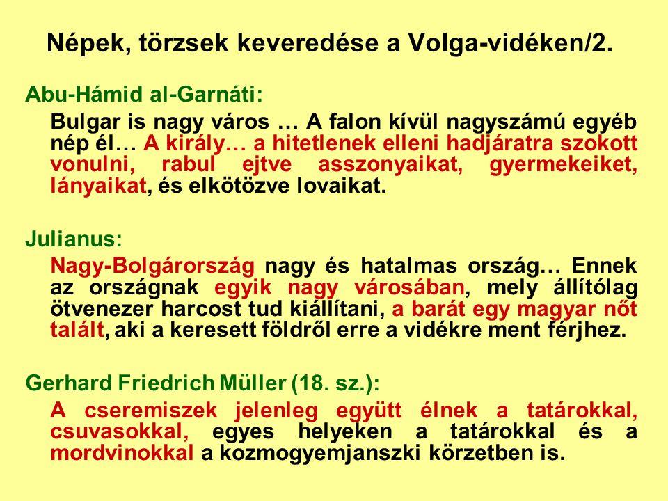 Népek, törzsek keveredése a Volga-vidéken/2.