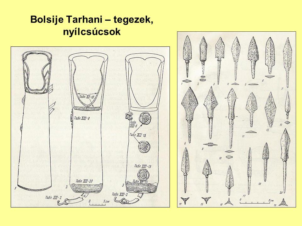 Bolsije Tarhani – tegezek, nyílcsúcsok