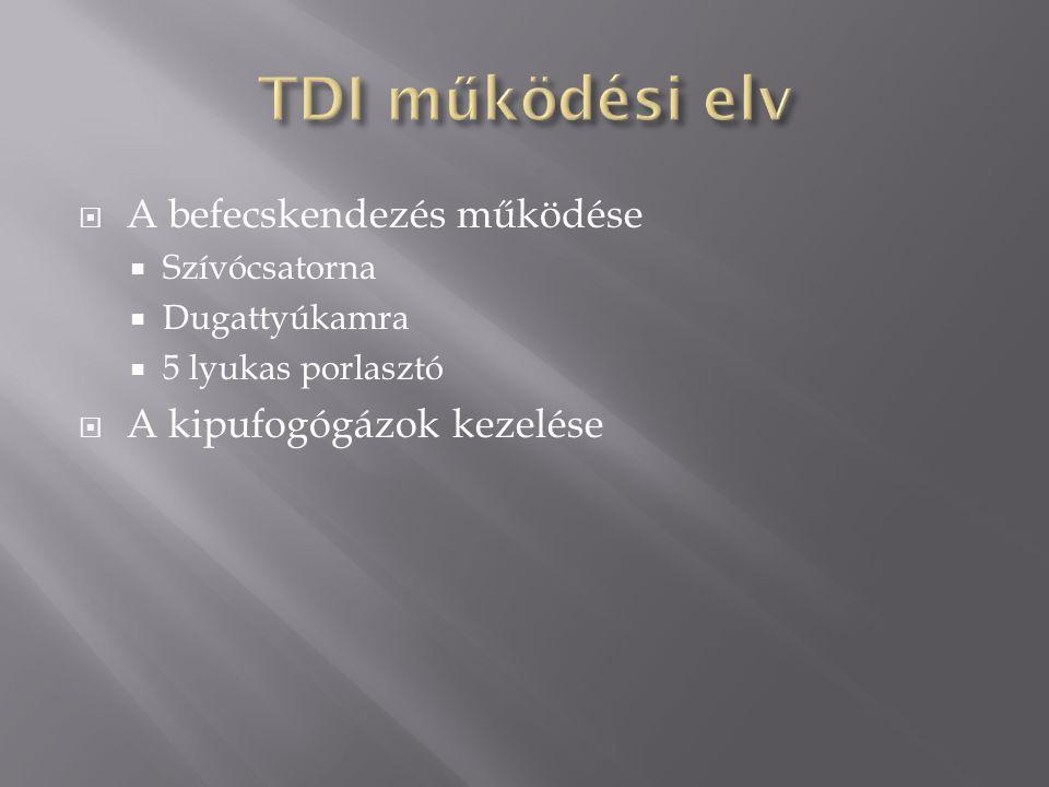 TDI működési elv A befecskendezés működése A kipufogógázok kezelése