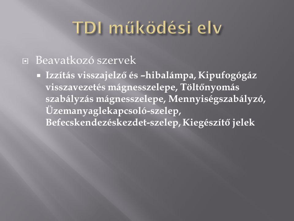 TDI működési elv Beavatkozó szervek