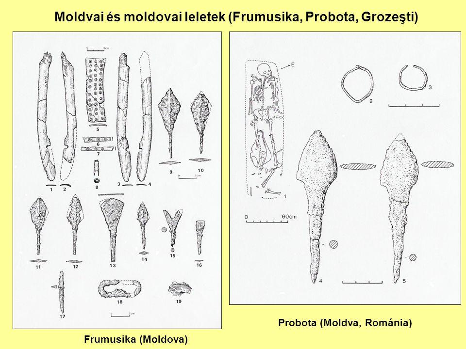 Moldvai és moldovai leletek (Frumusika, Probota, Grozeşti)