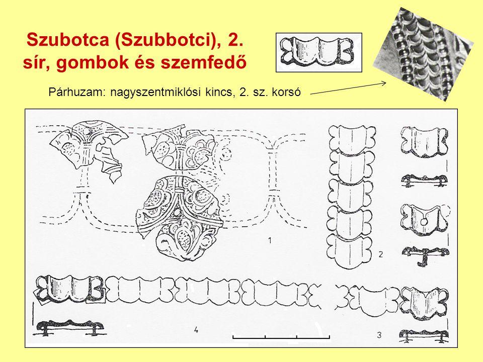 Szubotca (Szubbotci), 2. sír, gombok és szemfedő