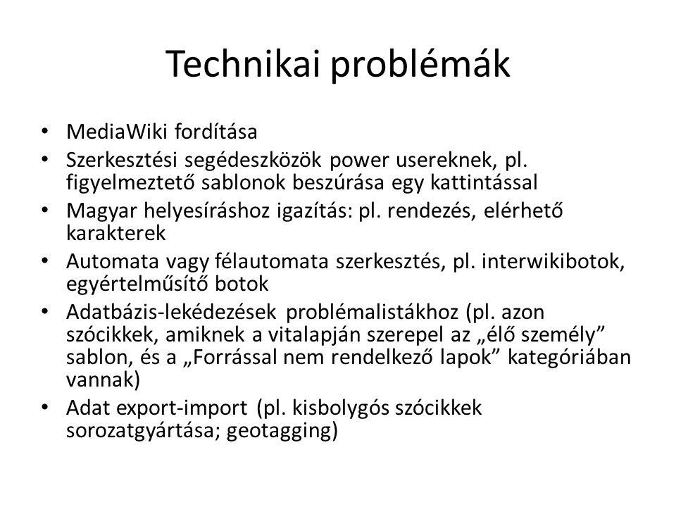 Technikai problémák MediaWiki fordítása