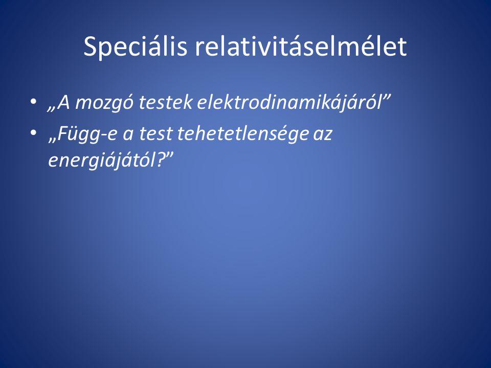 Speciális relativitáselmélet