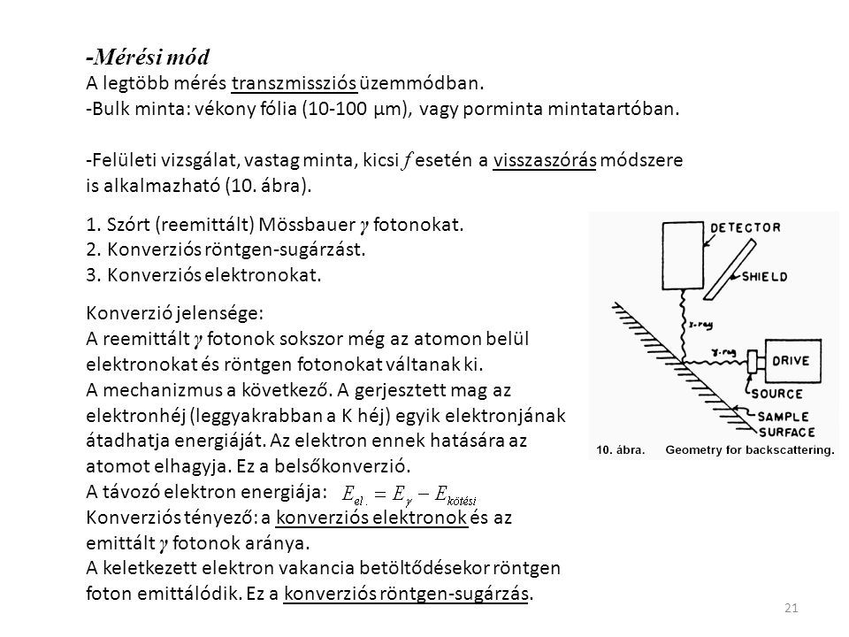-Mérési mód A legtöbb mérés transzmissziós üzemmódban.