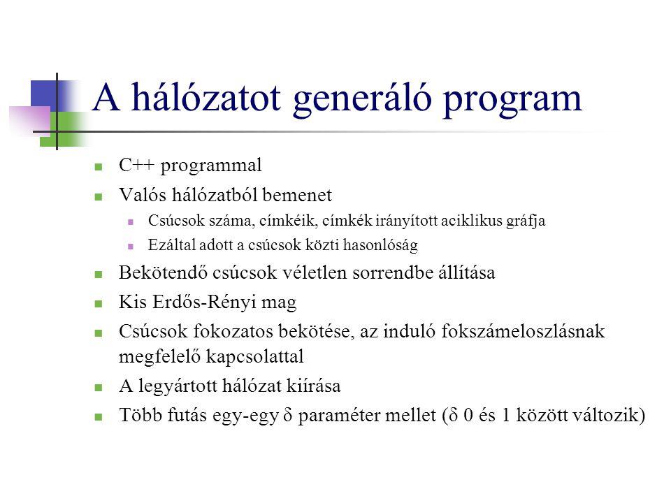 A hálózatot generáló program