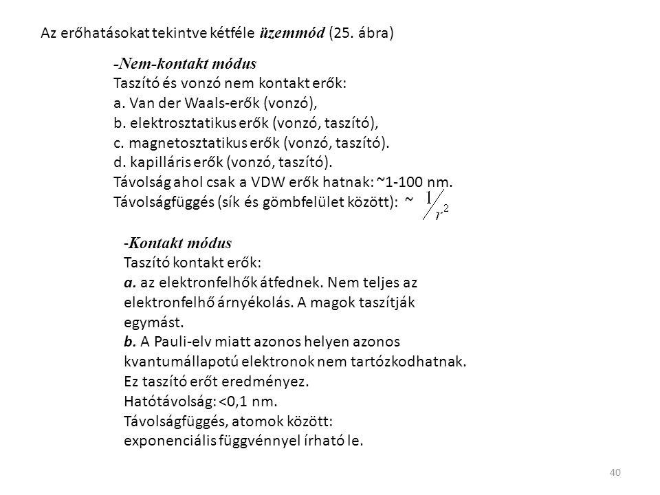 Az erőhatásokat tekintve kétféle üzemmód (25. ábra)
