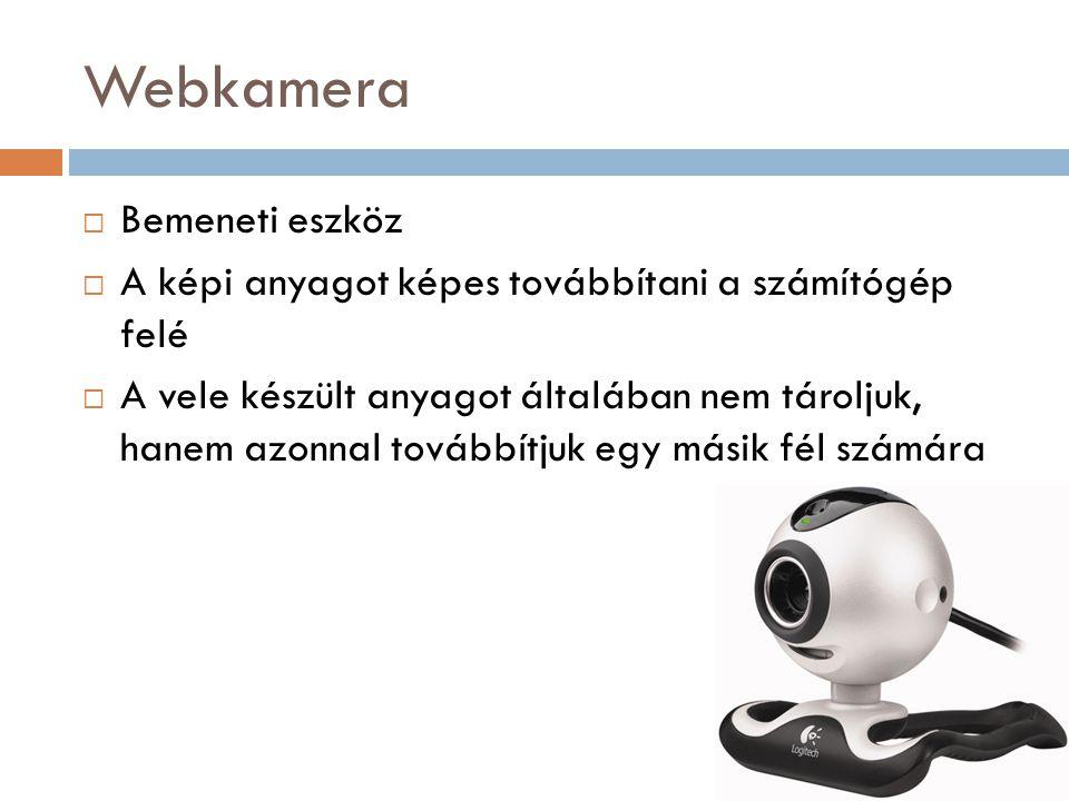 Webkamera Bemeneti eszköz