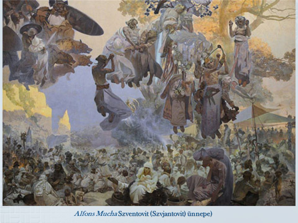 Alfons Mucha Szventovit (Szvjantovit) ünnepe)