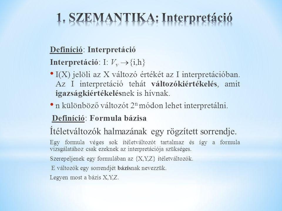 1. SZEMANTIKA: Interpretáció