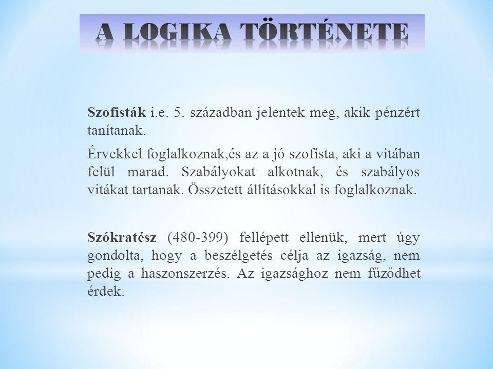 A LOGIKA TÖRTÉNETE