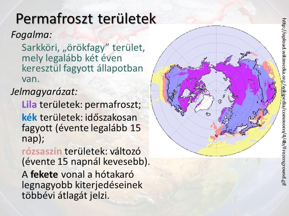 Permafroszt területek