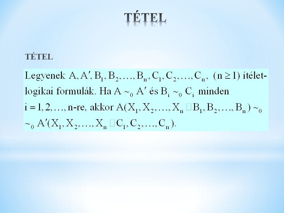 TÉTEL TÉTEL
