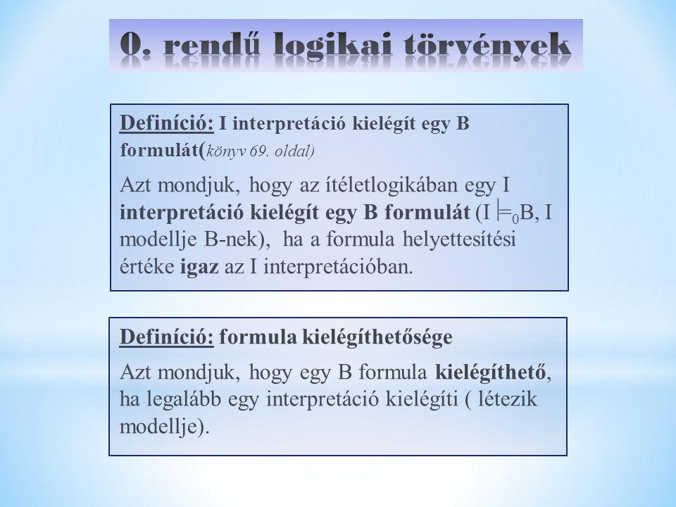 0. rendű logikai törvények