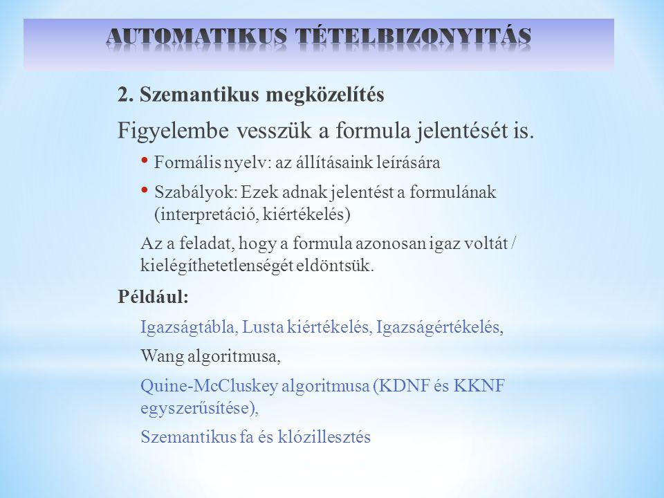 AUTOMATIKUS TÉTELBIZONYITÁS