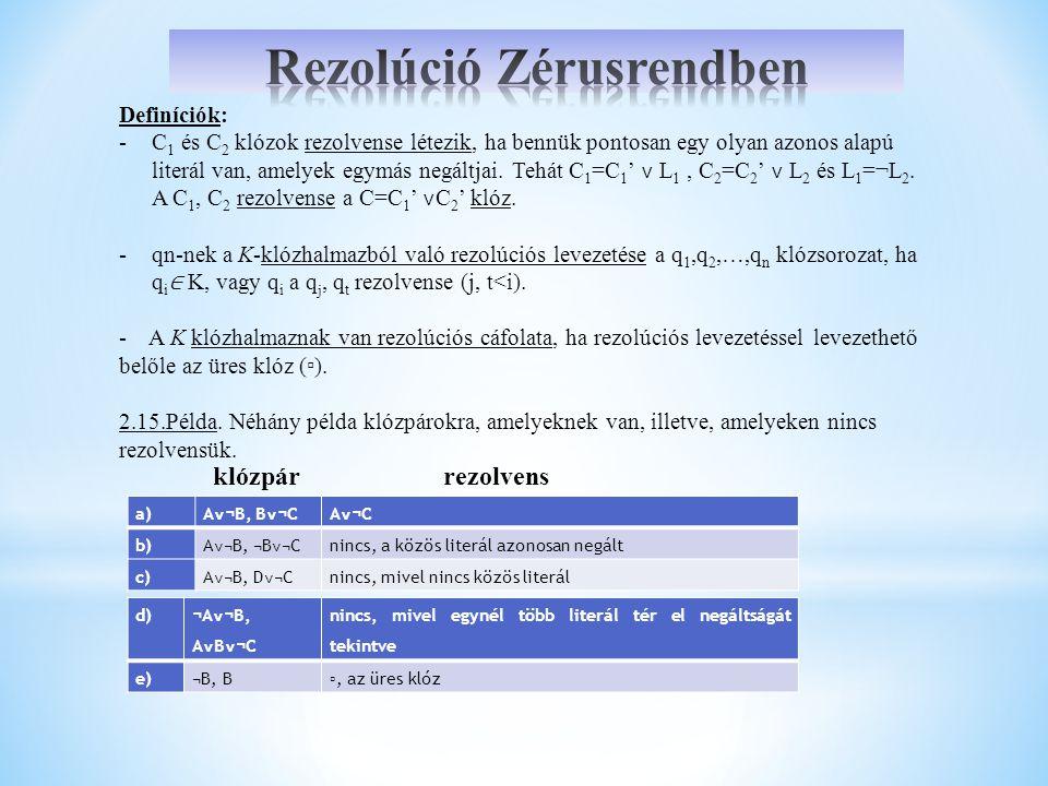 Rezolúció Zérusrendben