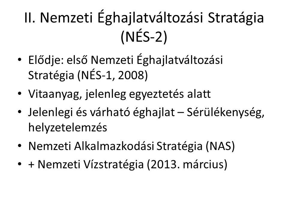 II. Nemzeti Éghajlatváltozási Stratágia (NÉS-2)