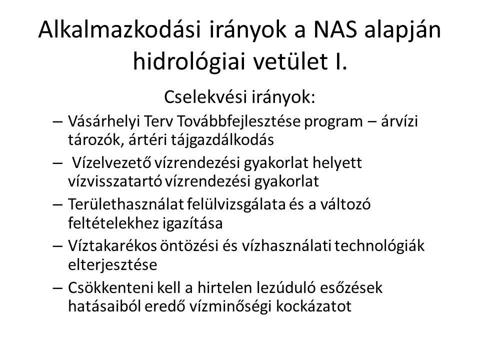 Alkalmazkodási irányok a NAS alapján hidrológiai vetület I.