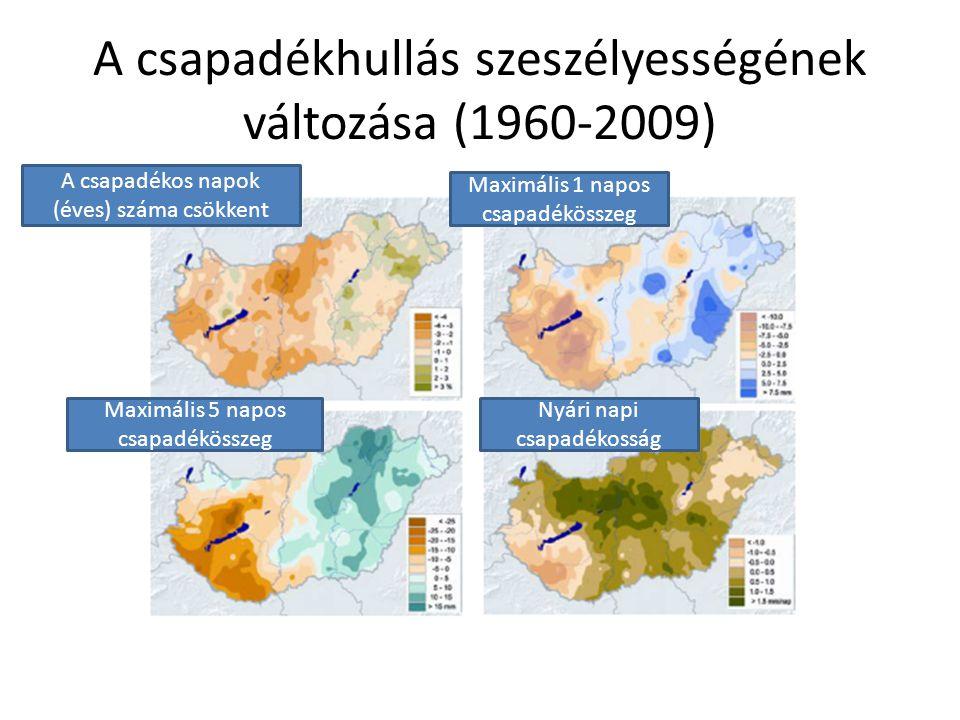 A csapadékhullás szeszélyességének változása (1960-2009)