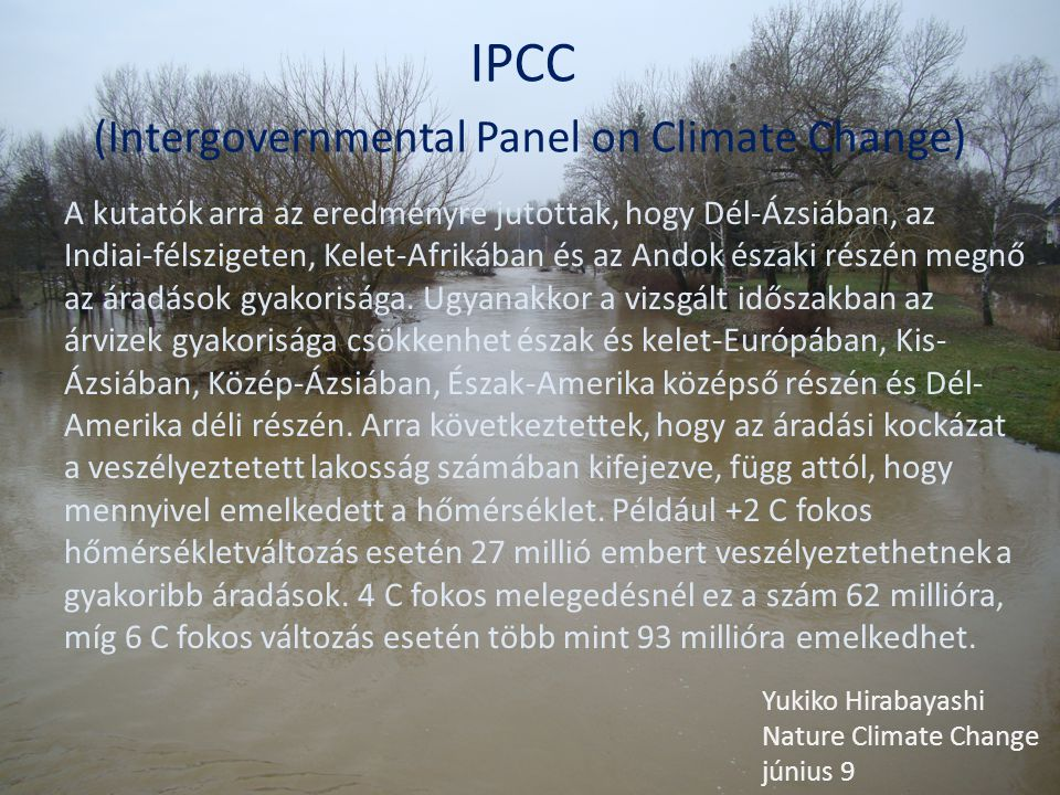 IPCC (Intergovernmental Panel on Climate Change)