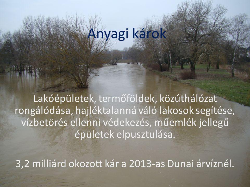 3,2 milliárd okozott kár a 2013-as Dunai árvíznél.