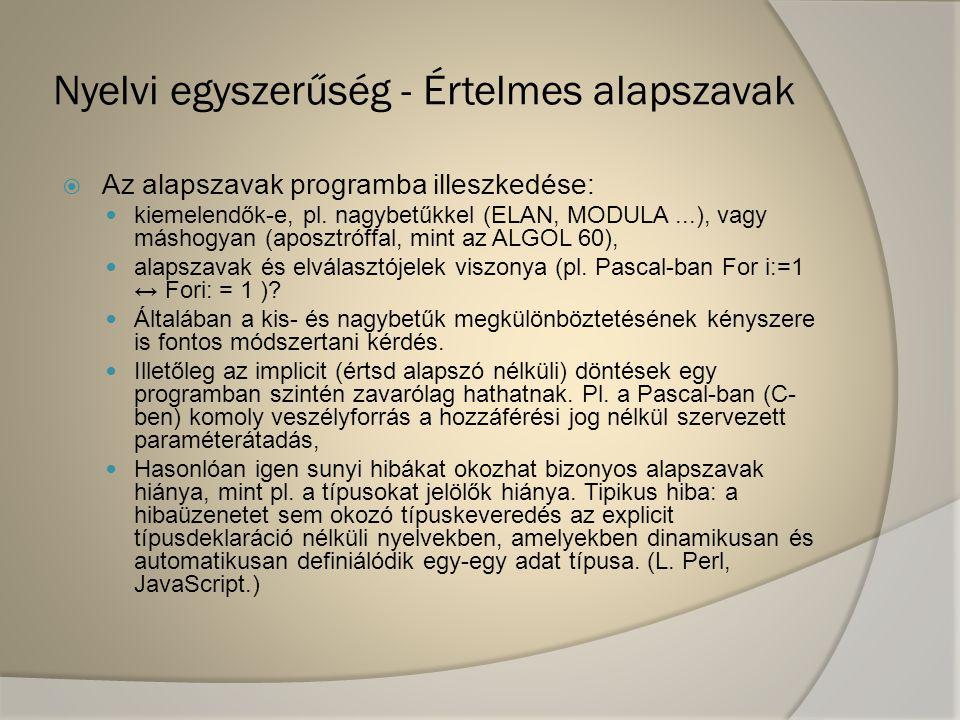 Nyelvi egyszerűség - Értelmes alapszavak