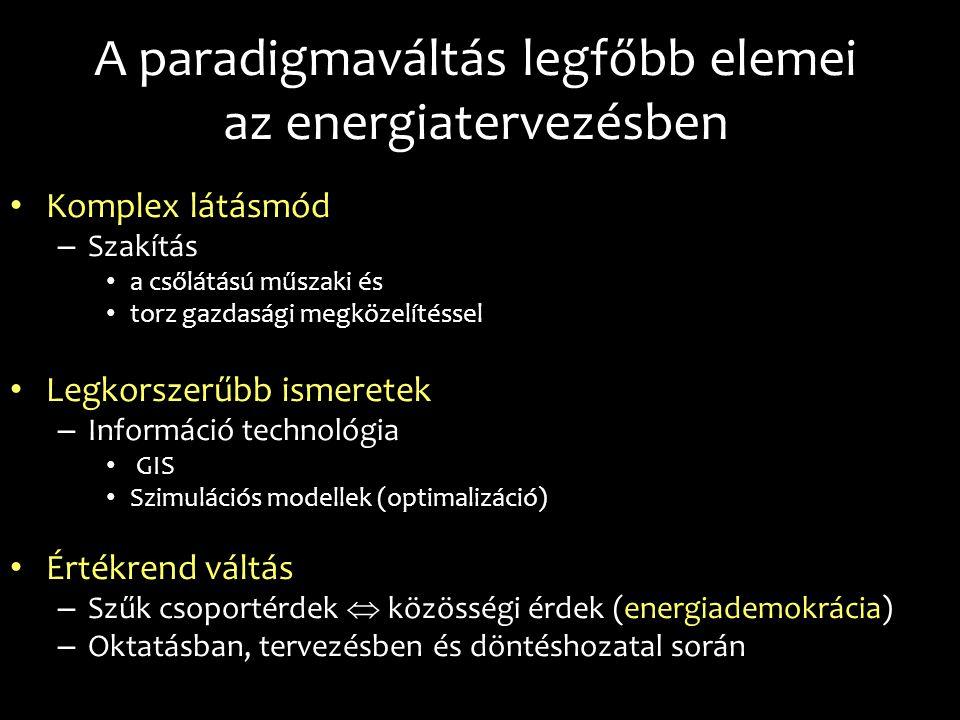 A paradigmaváltás legfőbb elemei az energiatervezésben