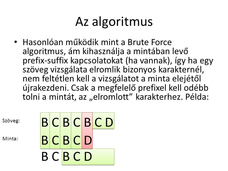 Az algoritmus B C B C B C D B C B C D B C B C D