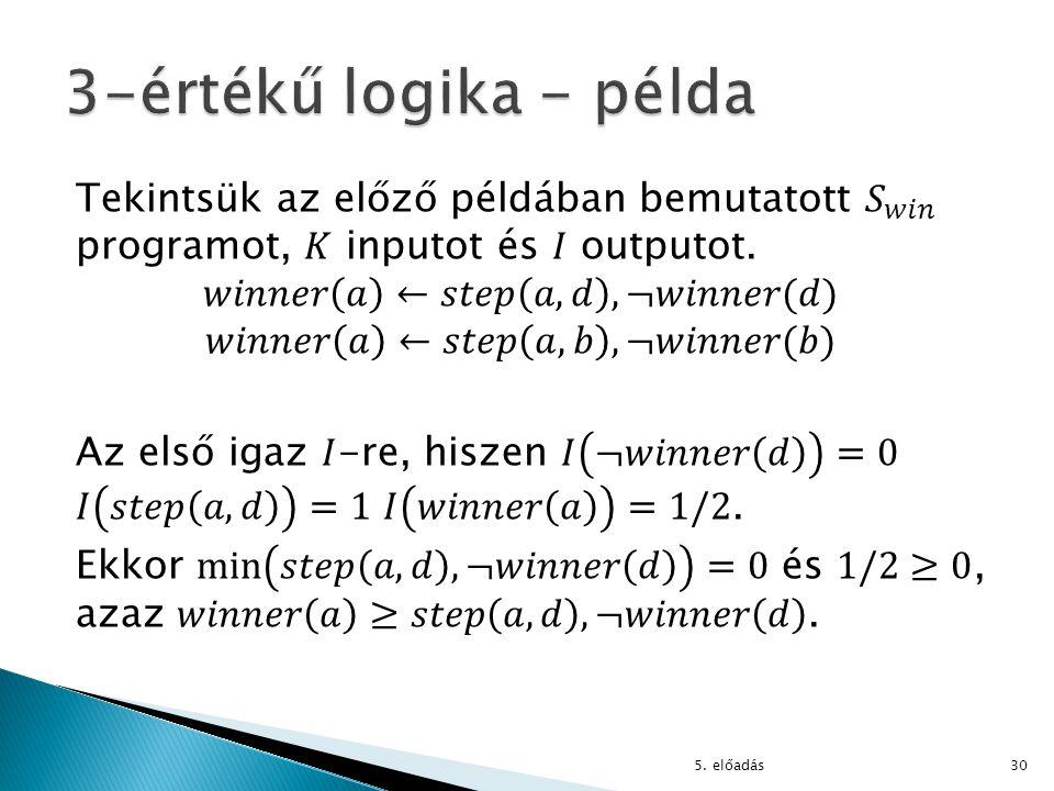 3-értékű logika - példa