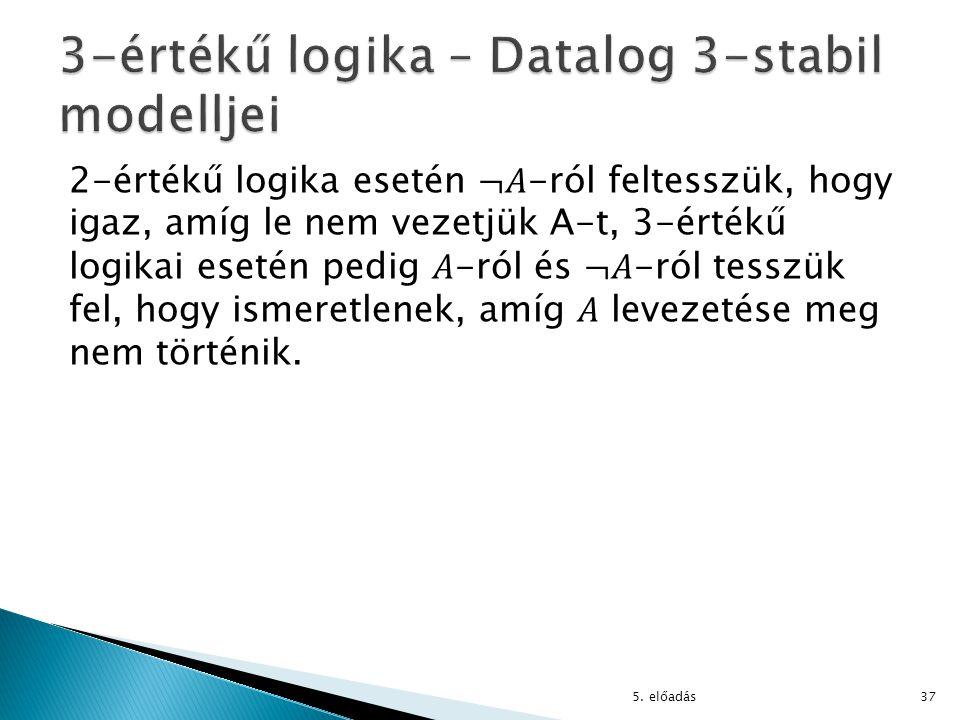 3-értékű logika – Datalog 3-stabil modelljei