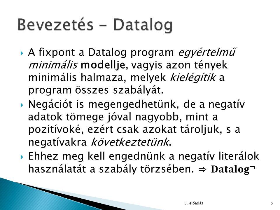 Bevezetés - Datalog
