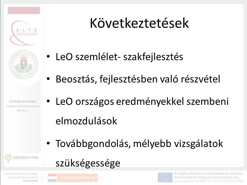 Következtetések LeO szemlélet- szakfejlesztés