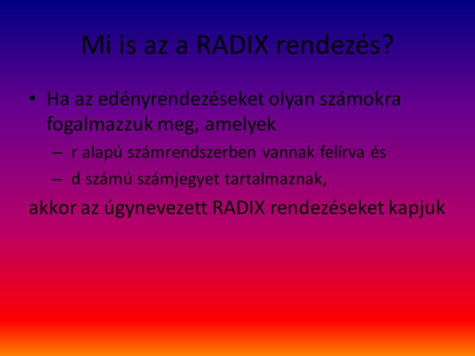 Mi is az a RADIX rendezés